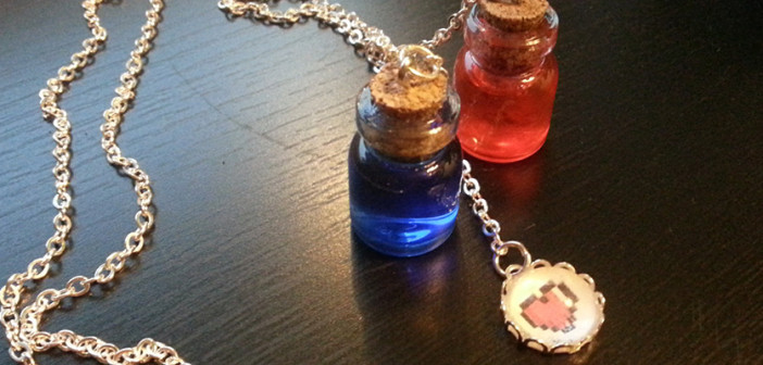 Mana and health-potions necklace – forget being out of mana!